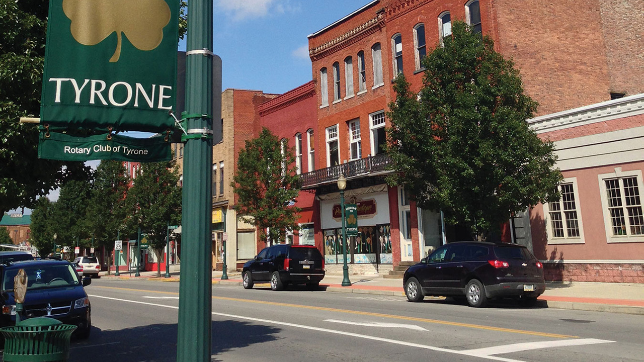 Photo of downtown Tyrone, PA