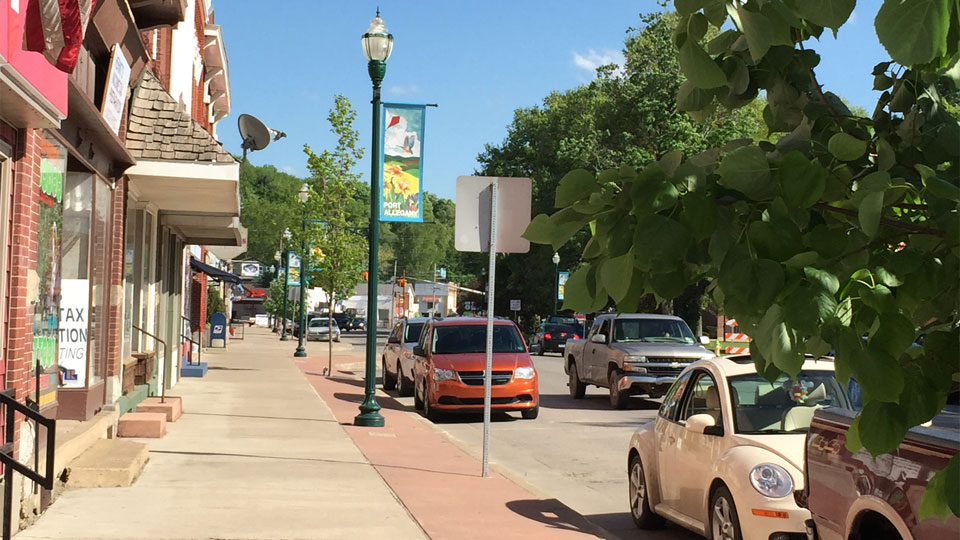 Photo of downtown Port Allegany