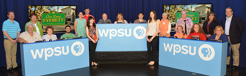 Volunteers at WPSU studios