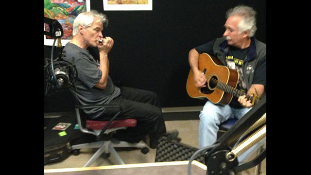 Richard Sleigh & Jerry Zolten performing at the WPSU studios.