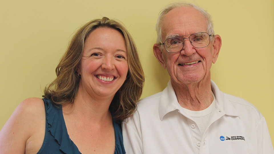 Larissa Gill and her grandfather Rodney Bowers. Credit WPSU