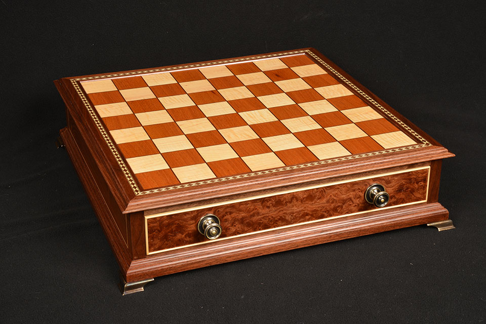 handcrafted wood chess set