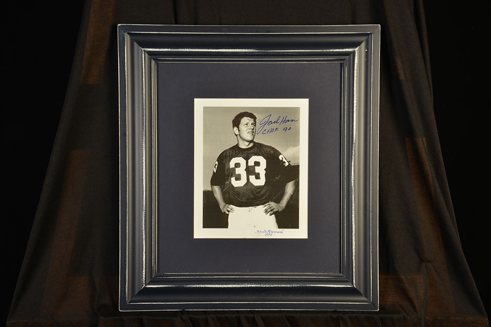Jack Ham photo with original signature; by Dick Brown.