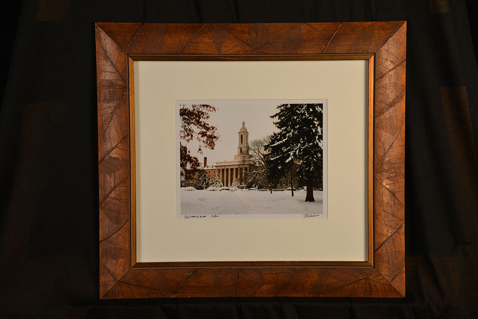 Framed photo of Old Main by Bob Lambert.