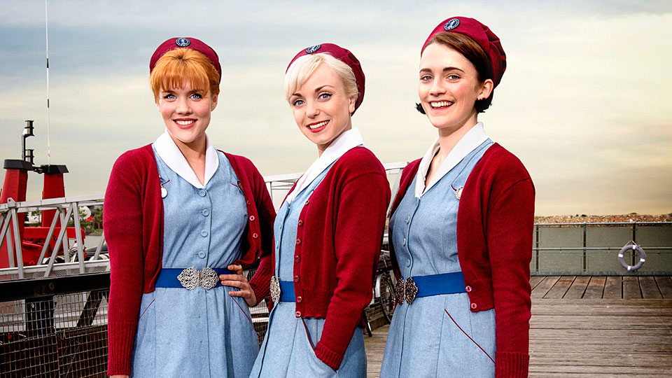 Patsy (Emerald Fennell), Trixie (Helen George) and Barbara (Charlotte Ritchie).