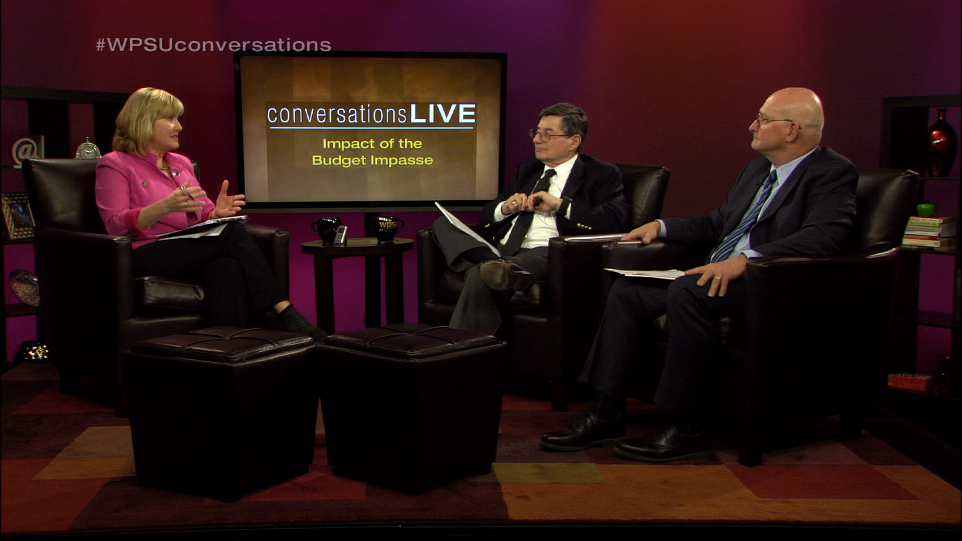 Patty Satalia and guests on the set of Conversations Live