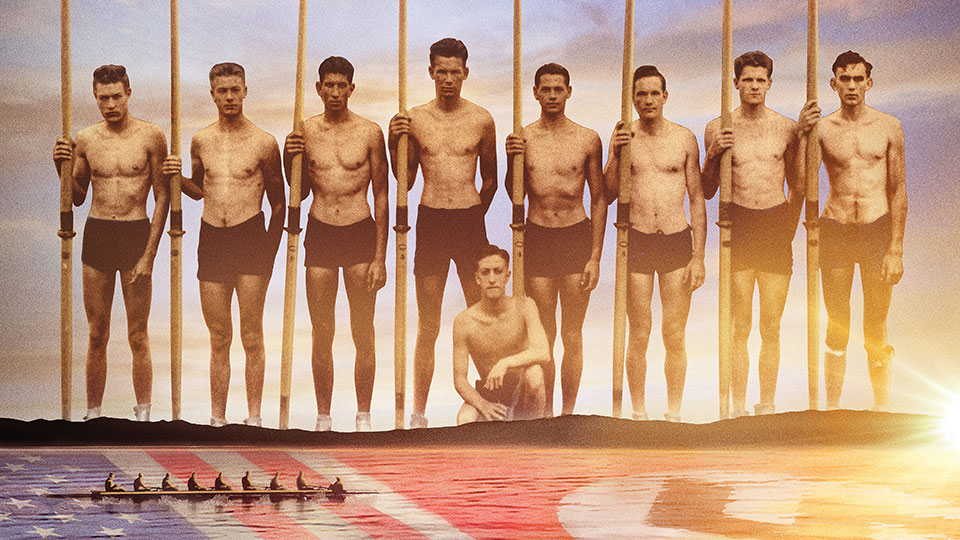 The 1936 University of Washington's varsity crew team.