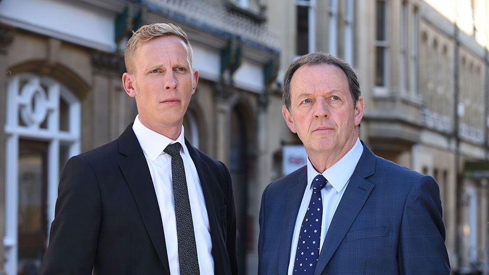 Laurence Fox as DI Hathaway and Kevin Whately as DI Lewis