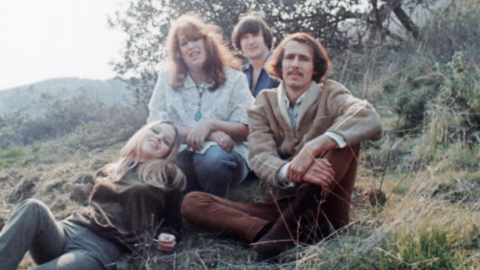 "Michelle Phillips, ""Mama"" Cass Elliot, Denny Doherty and John Phillips of the iconic pop-rock group the Mamas and the Papas."