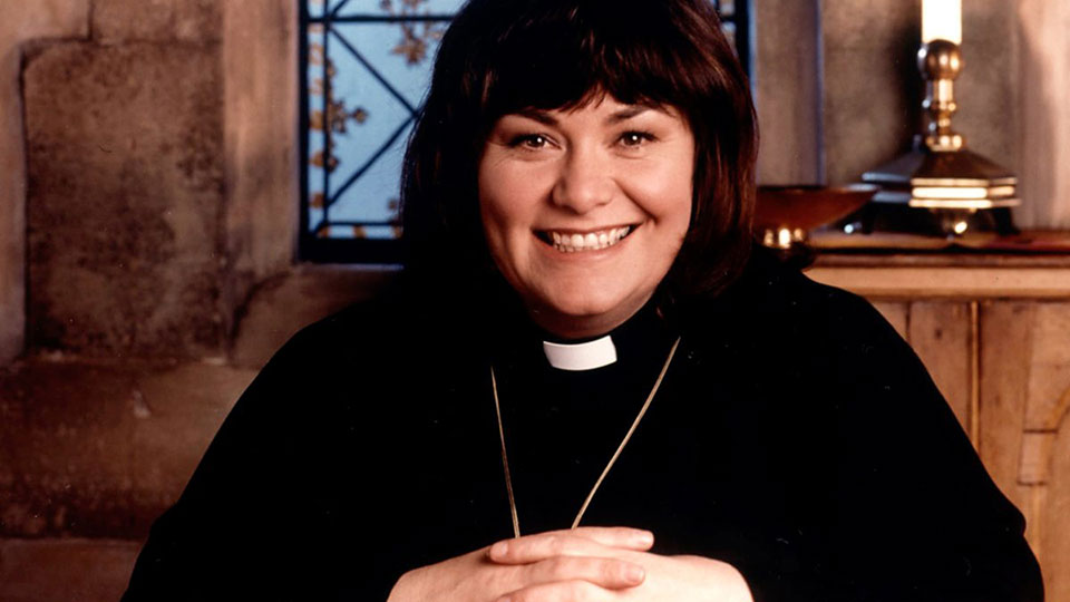 Dawn French as Geraldine Granger, the Vicar of Dibley
