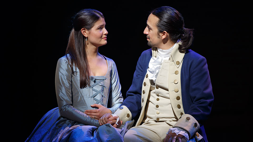 Phillipa Soo and Lin-Manuel Miranda