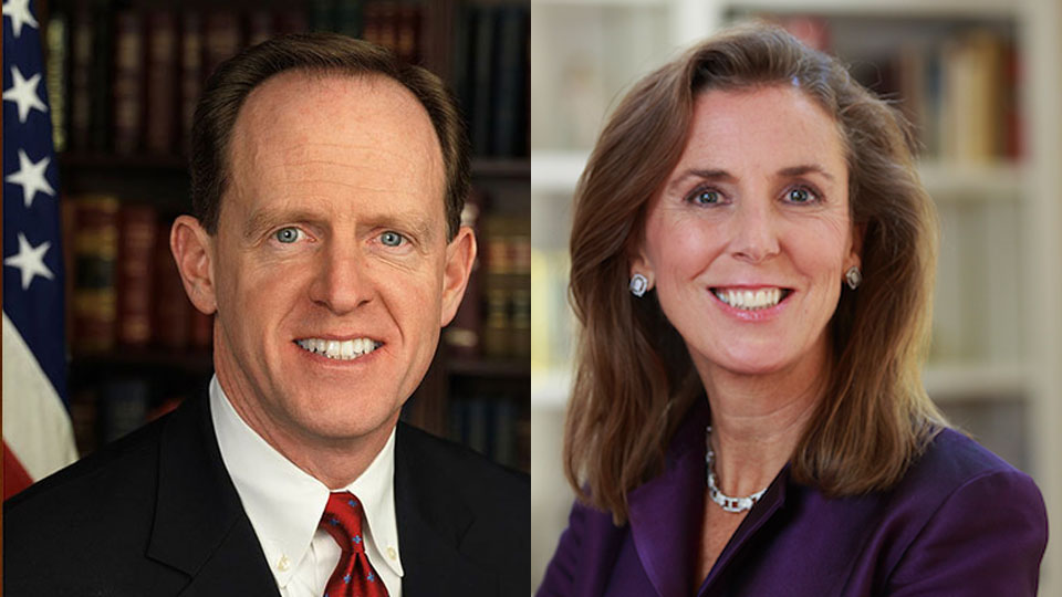 Pat Toomey and Katie McGinty