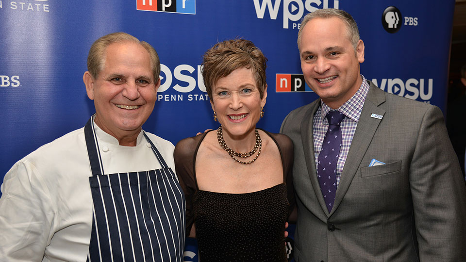 Chef John Folse with guests Carolyn Donaldson and Michael DelGrosso