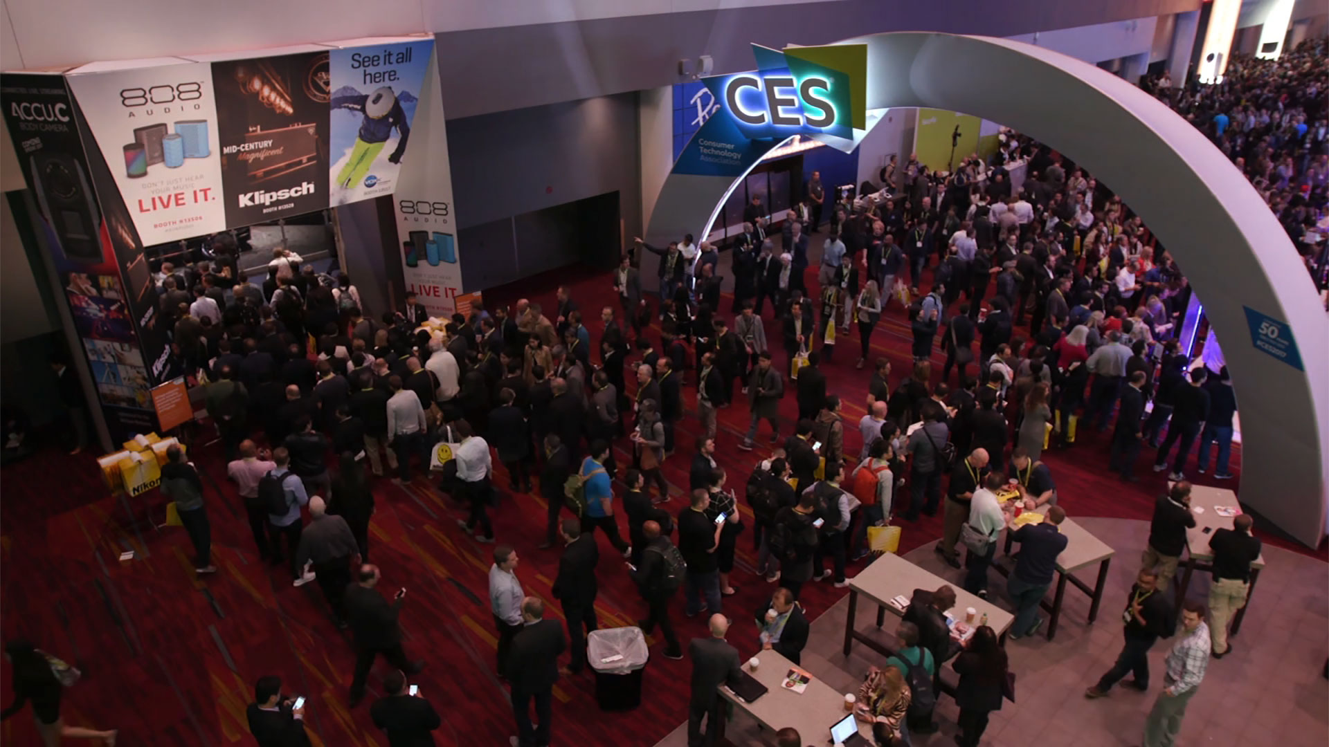 Crowd of attendees at the Consumer Electronics Show