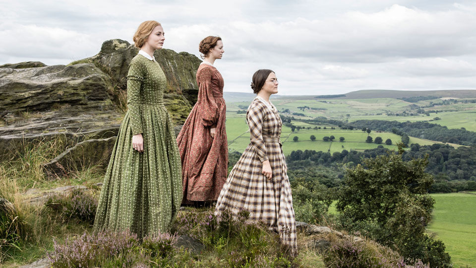Picture Shows (from left to right): Ann Bronte (CHARLIE MURPHY), Emily Bronte (CHLOE PIRRIE), and Charlotte Bronte (FINN ATKINS)
