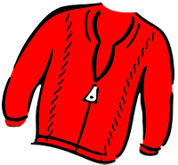 illustration of a red sweater