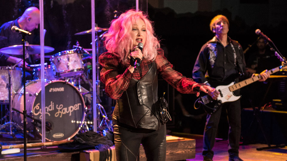 Cyndi Lauper performs on Austin City Limits stage