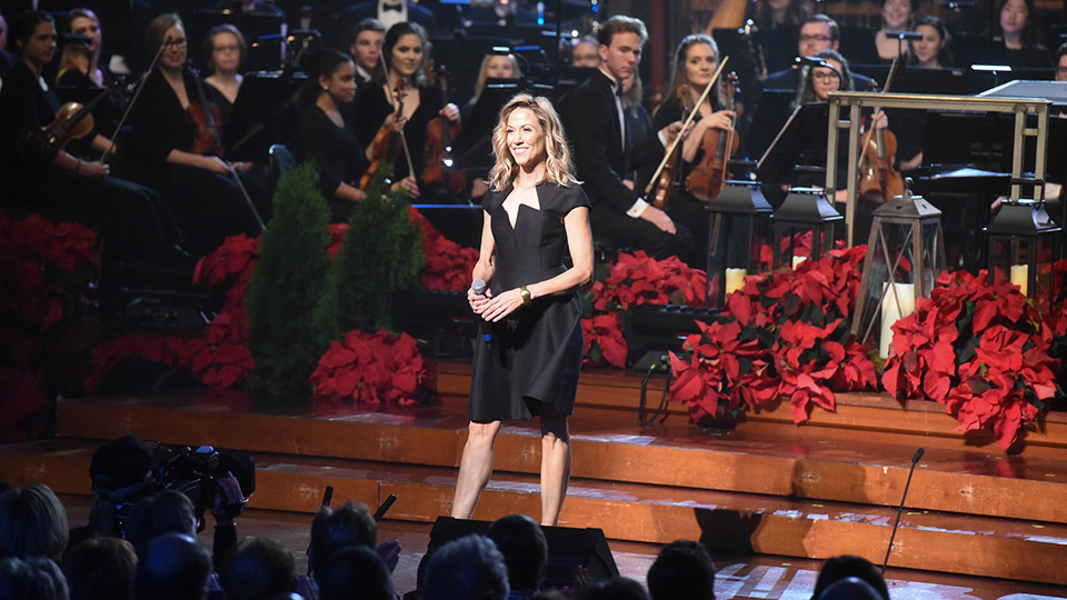 Sheryl Crow performs during CHRISTMAS AT BELMONT at the Schermerhorn Symphony Center in Nashville, Tennessee.