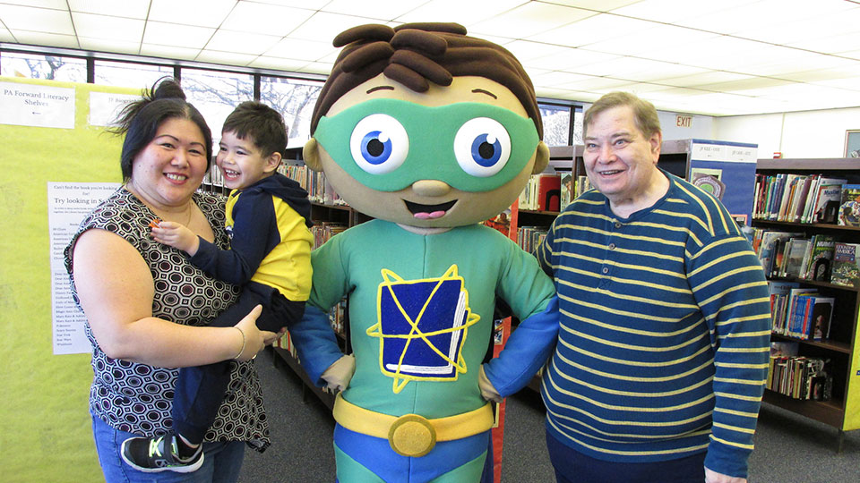 Super Why at Altoona Public Library