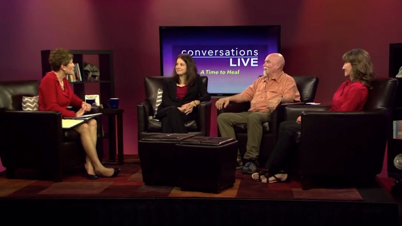 Carolyn Donaldson and guests on the set of Conversations Live