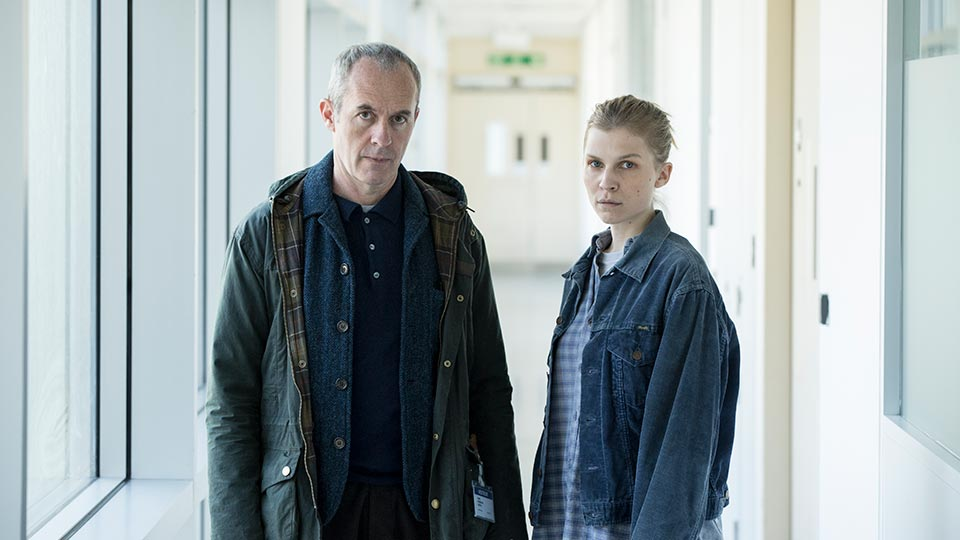 Stephen Dillane as Karl and Clémence Poésy as Elise