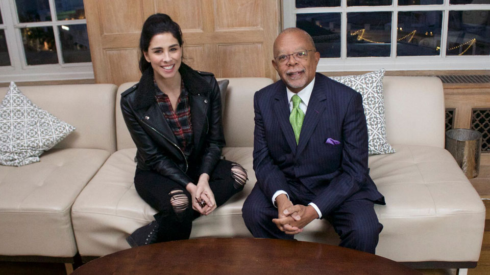 Sarah Silverman and Henry Louis Gates, Jr.