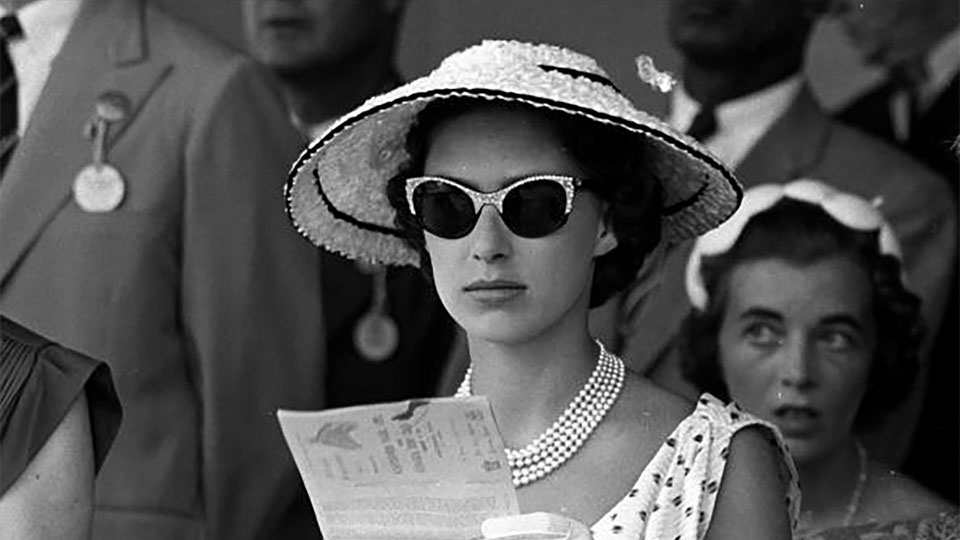 Princess Margaret pictured at the races at Kingston during the Royal Tour of the Caribbean.