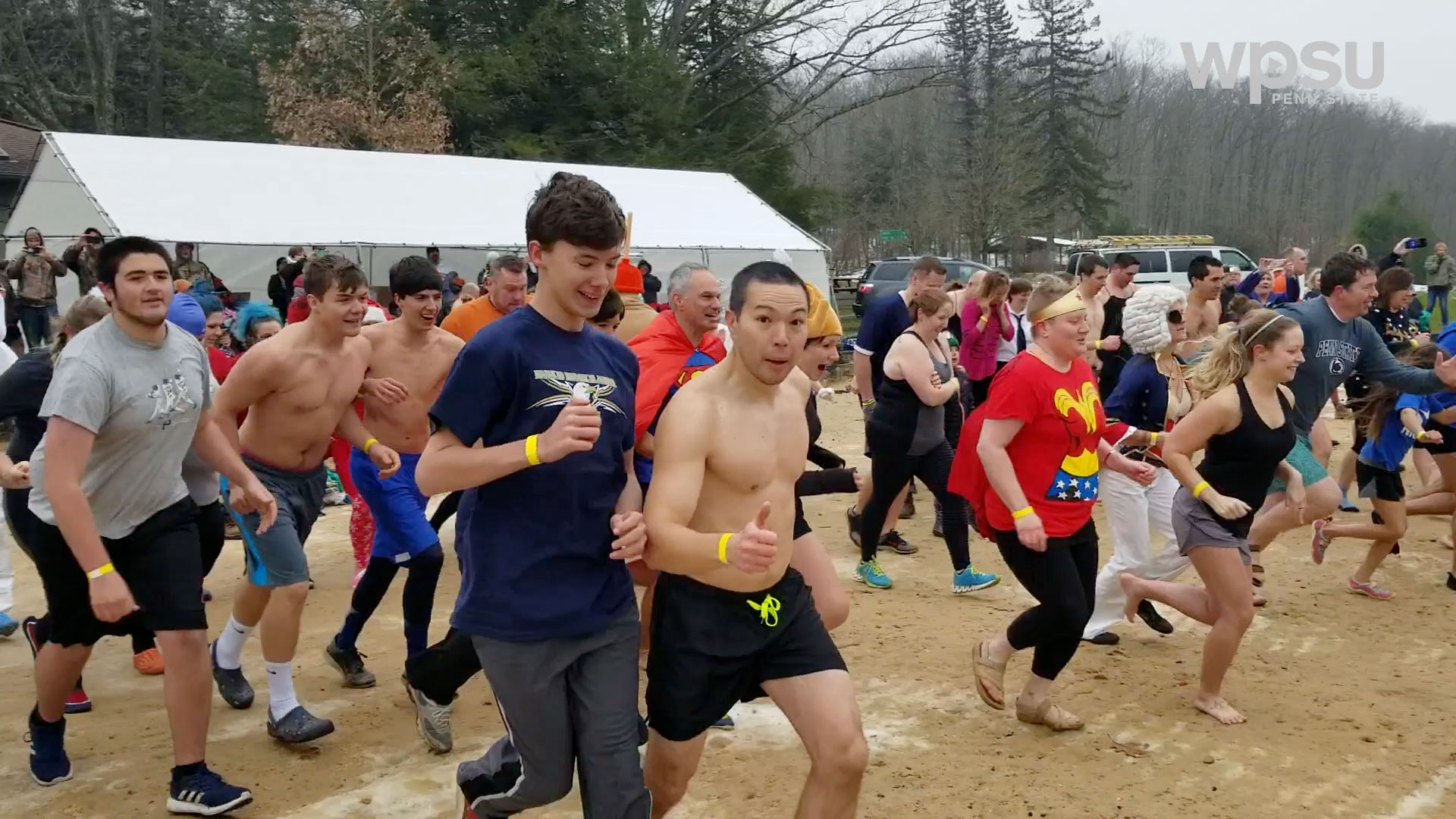 group of people ready to participate in a polar plunge
