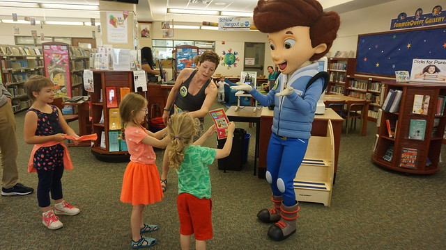 Jet Propulsion character at Schlow Library