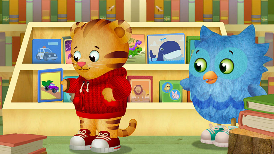 Daniel Tiger at Library