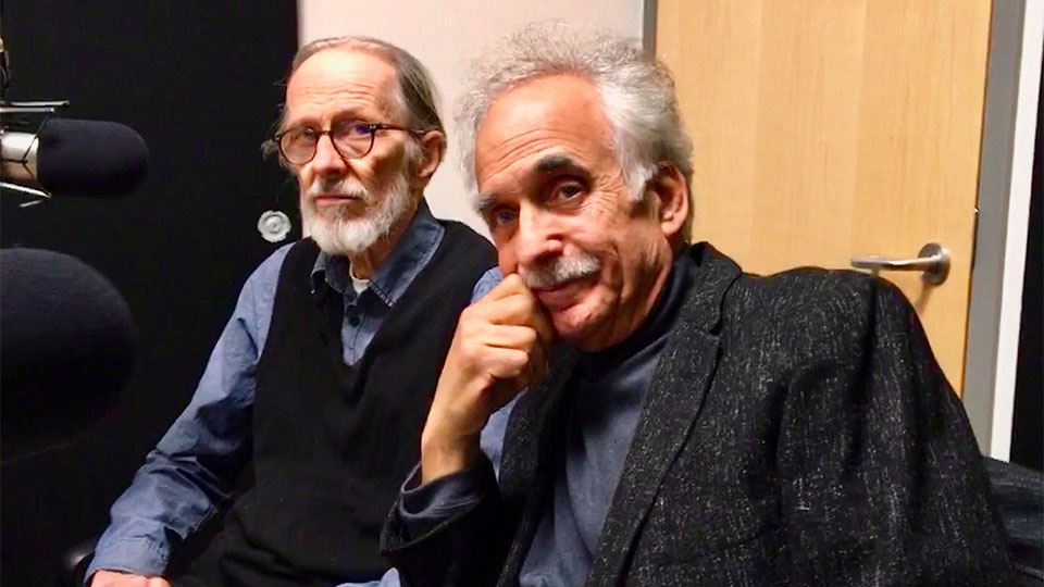 Underground cartoonist R. Crumb and Penn State Professor Jerry Zolten