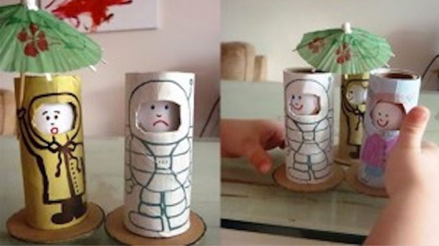 emotion dolls made from cardboard tube