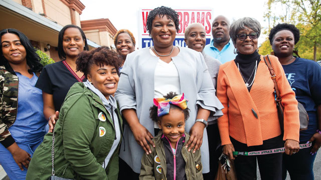 Stacy Abrams with group