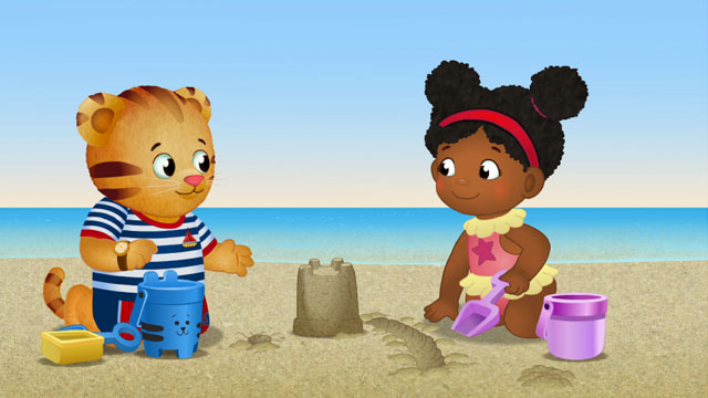 daniel tiger at the beach