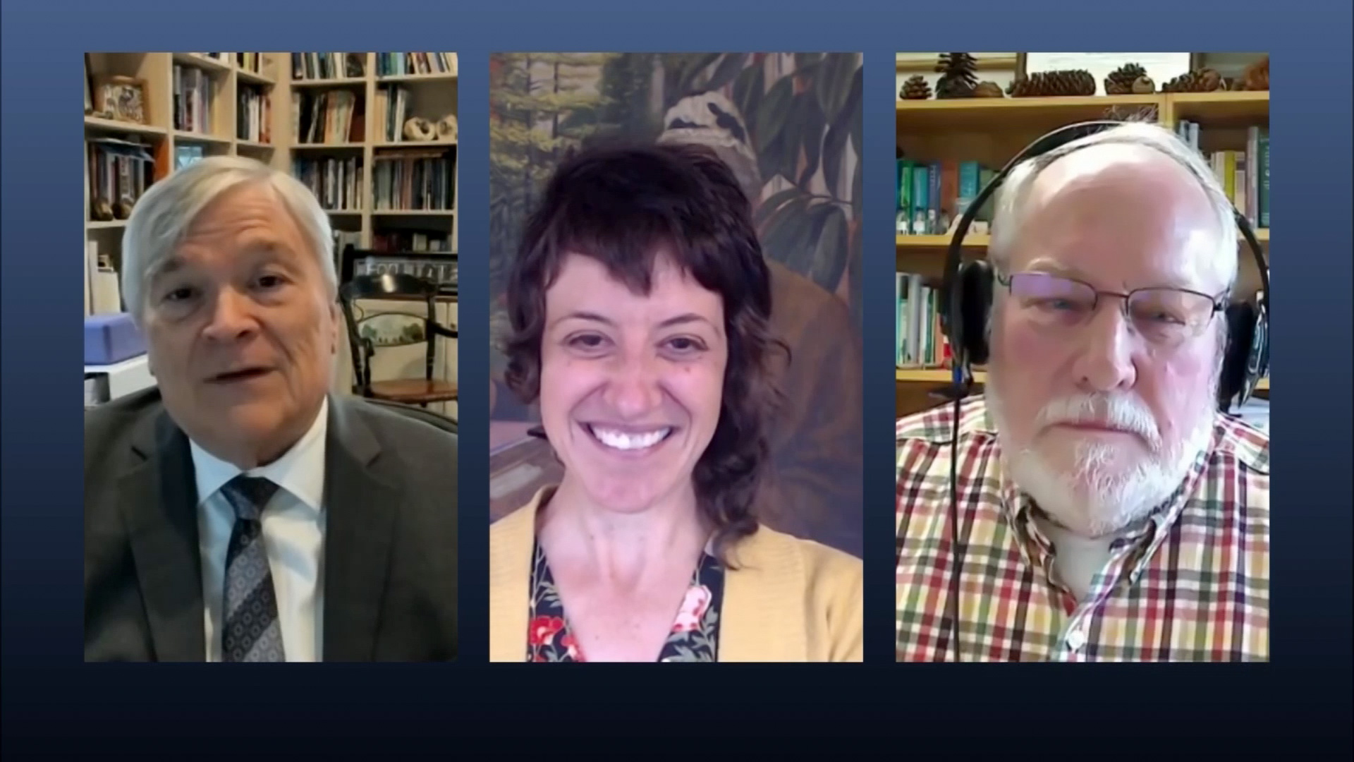Eric Barron with guests on Digging Deeper