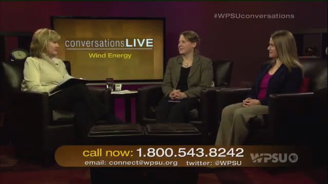 Patty Satalia and guests Susan Stewart and Tamara Gagnolet on the set of Conversations Live