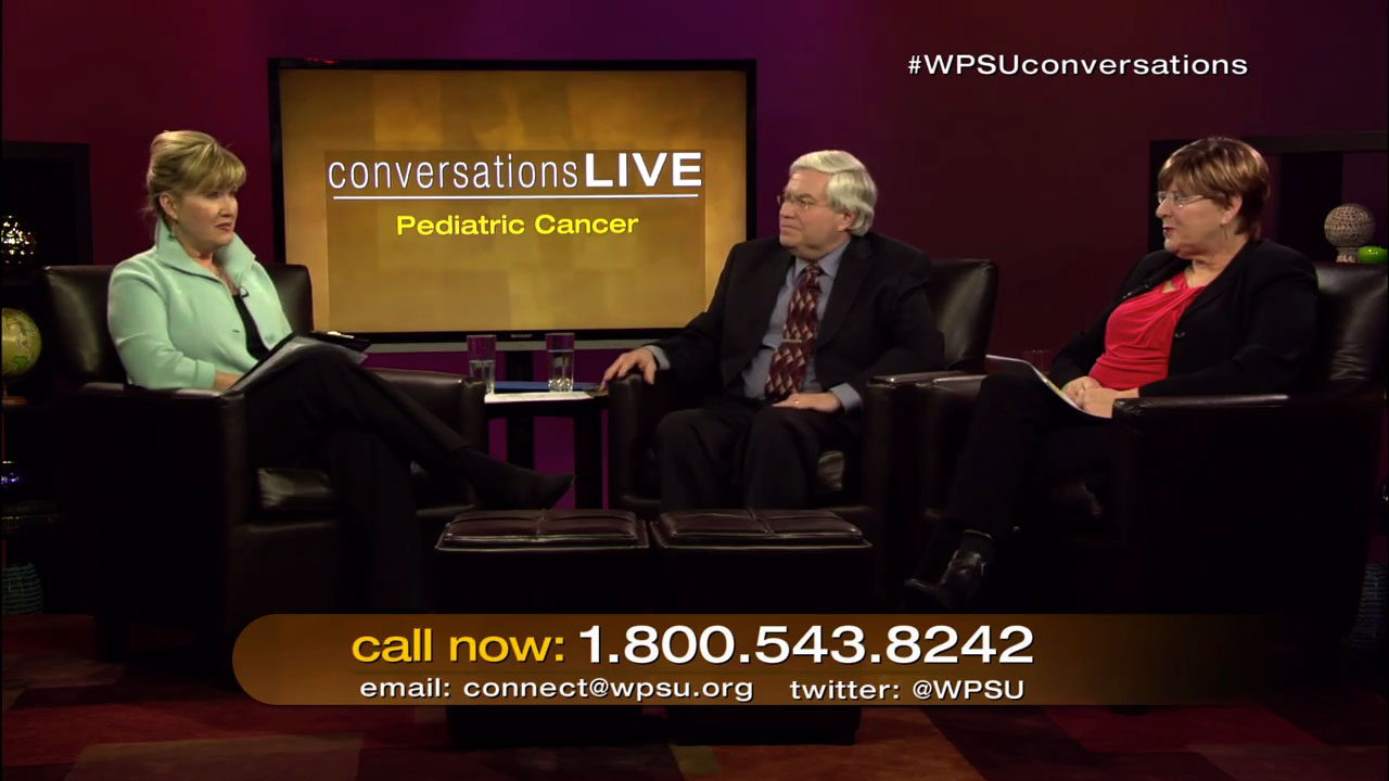 Patty Satalia and guests on the set of Conversation Live