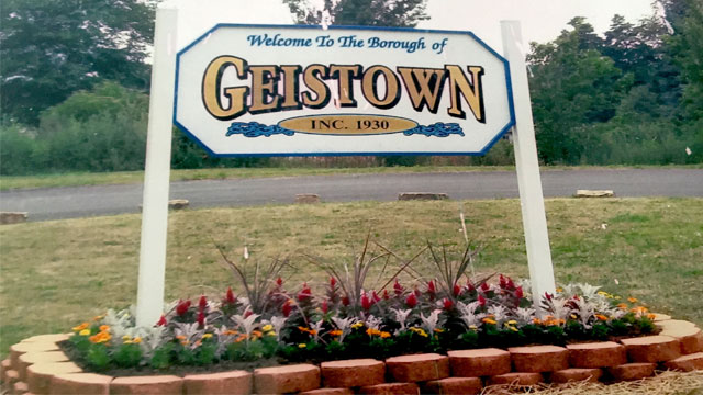 Photo of welcome sign in Geistown, PA