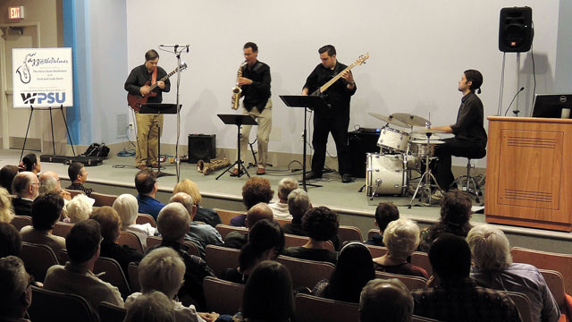 The Rick Hirsch 4 jazz performance at the Palmer Museum of Art