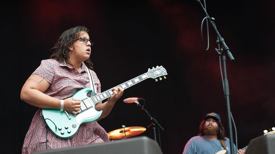 Brittany Howard and Zac Cockrell of Alabama Shakes at Way out West 2013 in Gothenburg, Sweden Credit Kim Metso / Creative Commons
