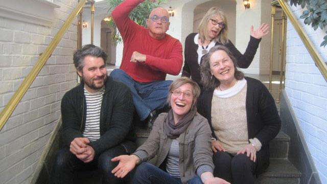 Judges for the 2015 Central PA Festival of the Arts: Front Row: Jordan McDonald, Cappy Counard, Nancy Burch Brassington. Back Row: Robert Villamagna, Pat Howard. Credit Courtesy of Rick Bryant