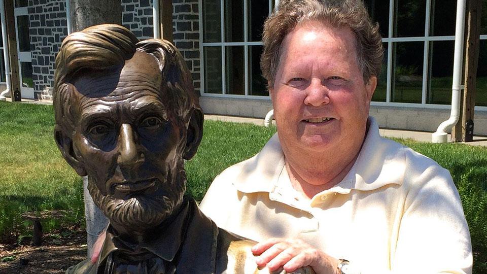 Historian Carol Reardon at Gettysburg.
