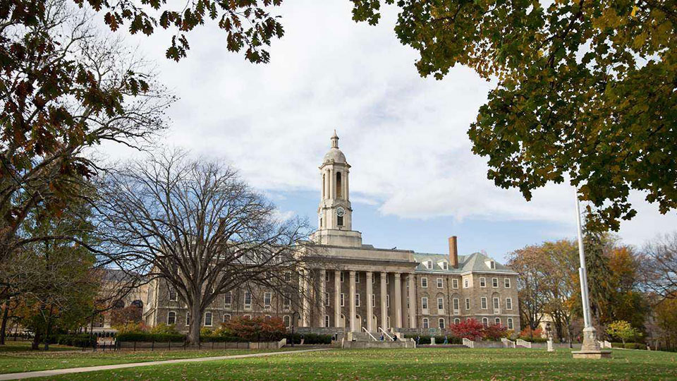 Old Main is a campus landmark at Penn State's University Park campus.