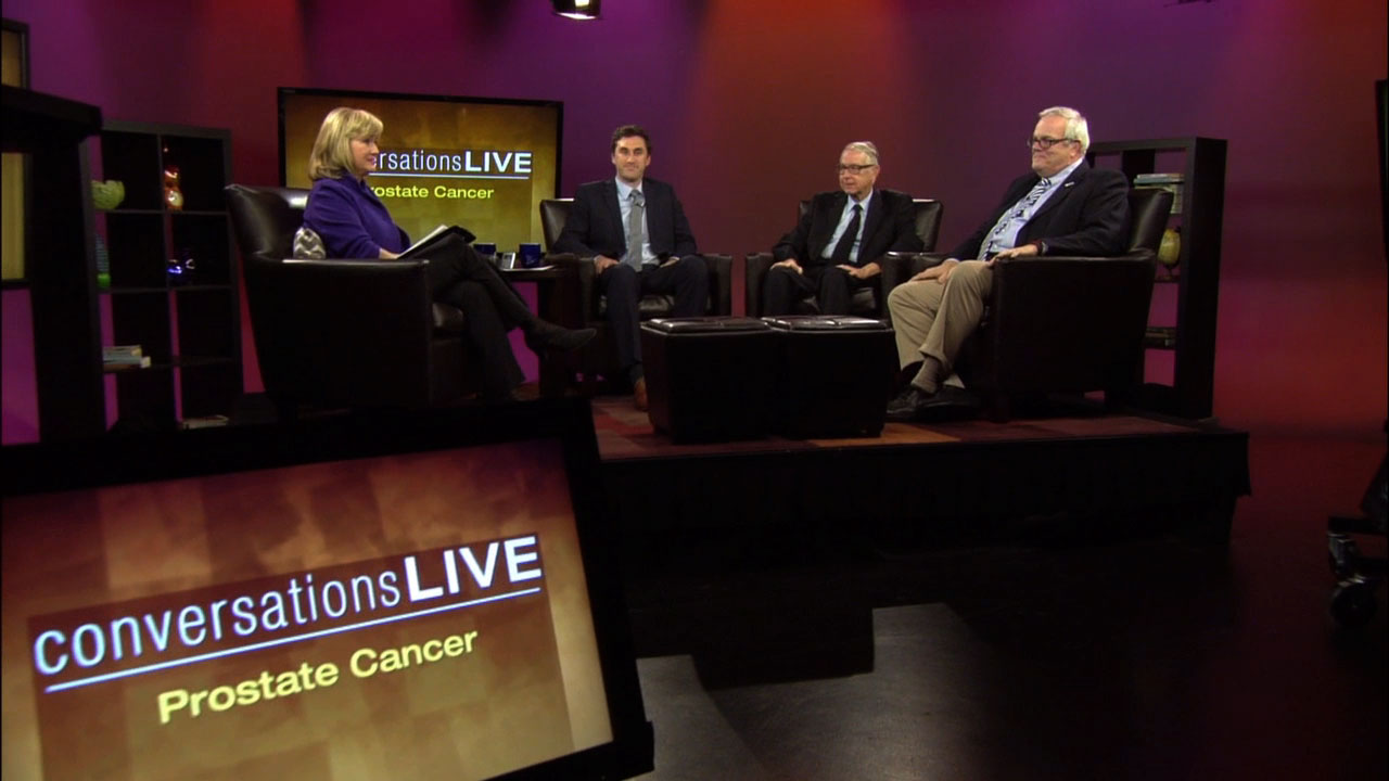 WPSU's Patty Satalia and guests on the set of Conversations Live
