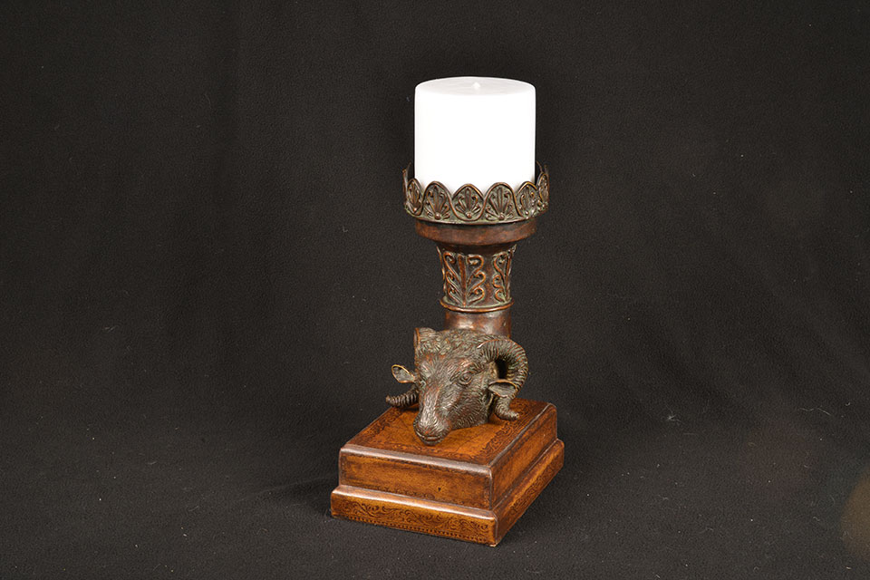 ram's head candleholder