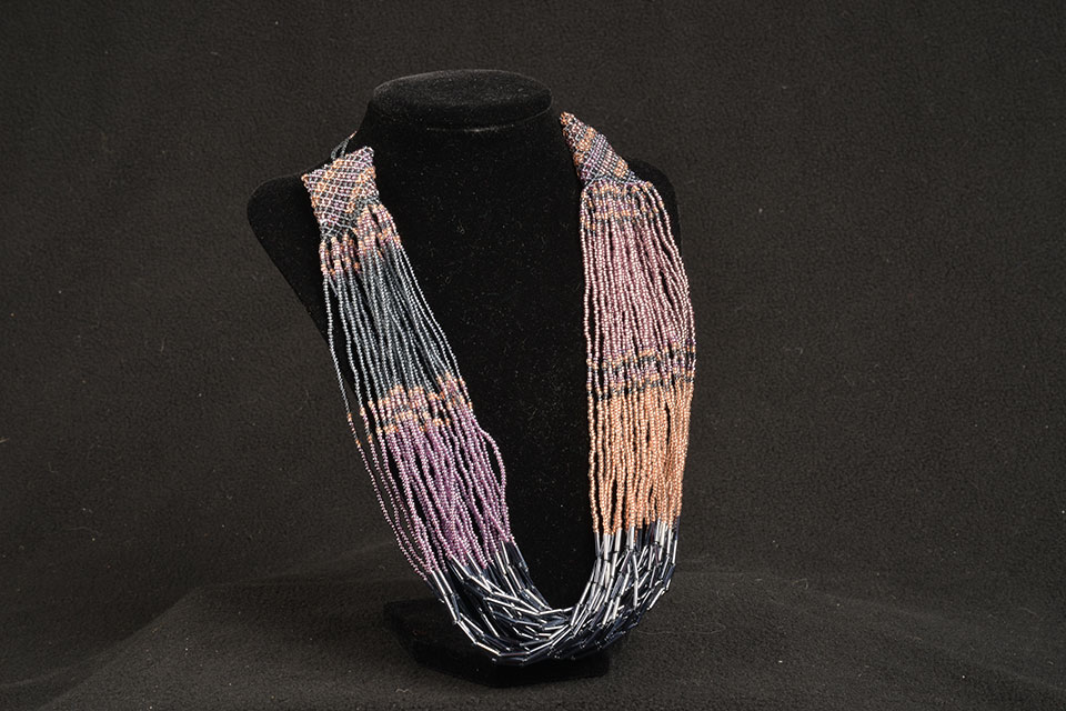 hand-beaded glass necklace