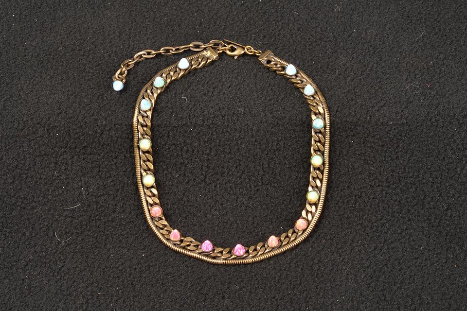 studded opal wrap bracelet