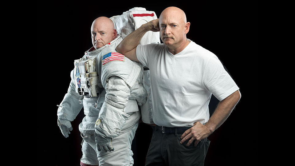 Astronauts Scott and Mark Kelly.