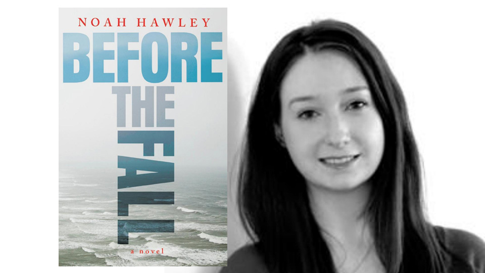 Cover art of Before the Fall, photo of book reviewer Erin Cassidy Hendrick