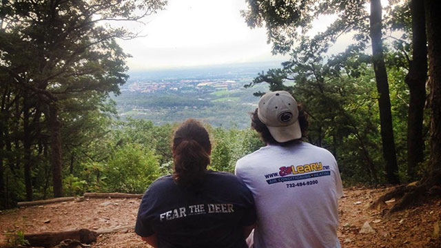 View of State College from the top of Mount Nittany